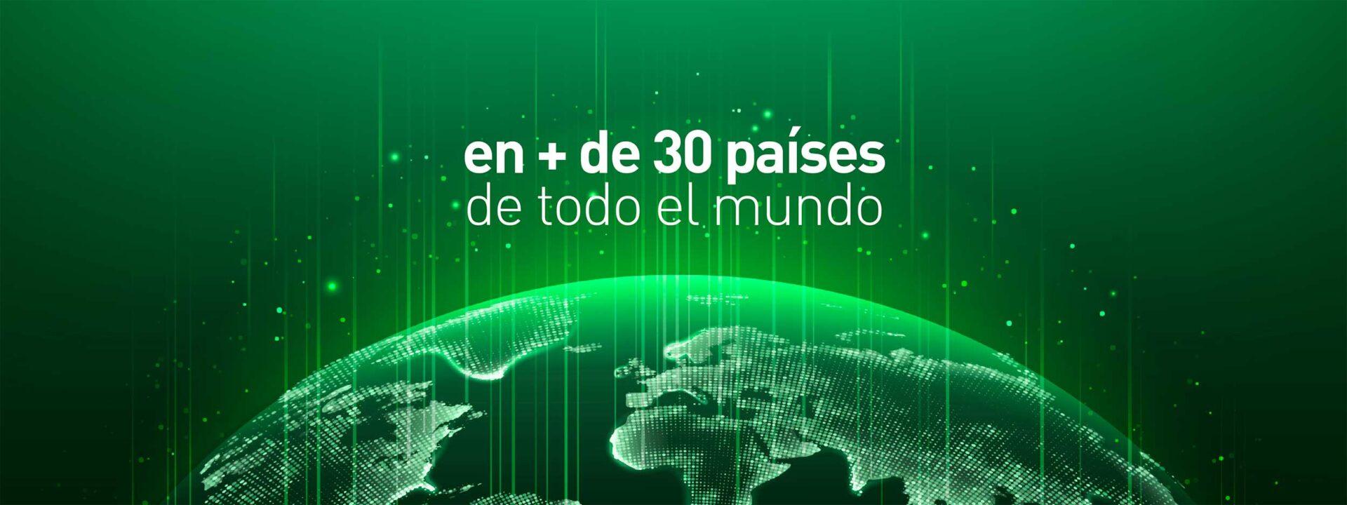 en + de 30 países de todo el mundo